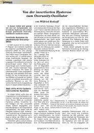 Von der invertierten Hysterese zum Overunity-Oszillator