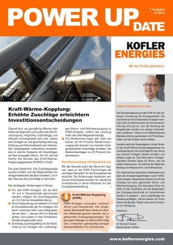 Kraft-Wärme-Kopplung: Erhöhte Zuschläge erleichtern ...