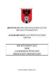 Aufgrabungsrichtlinien - Eisenstadt