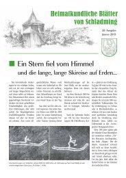 Heimatkundliche Blätter - Schladming