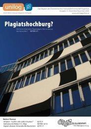 Unilog Nr. 31 November/Dezember 2006 - ÖH Klagenfurt ...