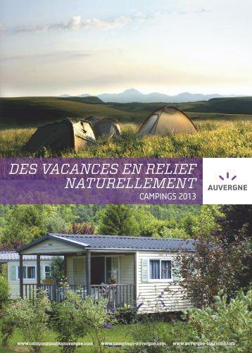 Brochures campings qualité Auvergne 2013