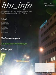 Ausgabe № 01 / 2011 - HTU