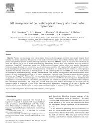 Self management of oral anticoagulant therapy after heart valve ...