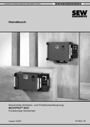 MOVIPRO®-SDC – Funktionale Sicherheit - SEW Eurodrive