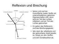Reflexion und Brechung - bei Schlaefendorf.de