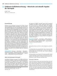 Goldmann-Gedächtnisvorlesung ± Historische und aktuelle Aspekte ...