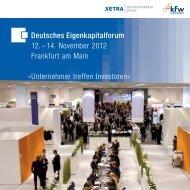 Flyer: Deutsches Eigenkapitalforum 2012 - Xetra