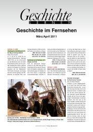 Geschichte im Fernsehen März/April 2011 - Friedrich Verlag