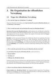 3. Die Organisation der öffentlichen Verwaltung - Christiani