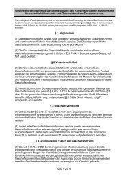 Geschäftsordnung für die Geschäftsführung des Kunsthistorischen ...