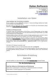 Erste Schritte nach der Installation - Xplan Software