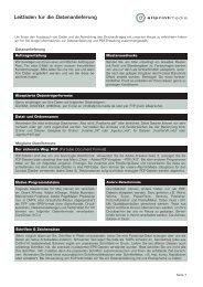 Leitfaden zur Datenanlieferung (PDF-Datei)