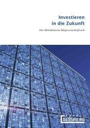 Investieren in die Zukunft - Anhalt Dessau AG