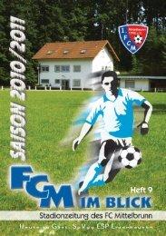 Heft 9 Heute zu Gast: SpVgg ESP Erzenhausen - 1. FC Mittelbrunn eV