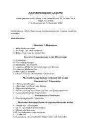 Jugendschutzgesetz (JuSchG)
