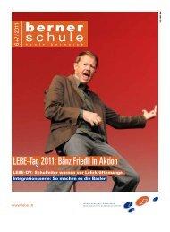 LEBE-Tag 2011: Bänz Friedli in Aktion - Lehrerinnen und Lehrer ...