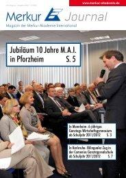 Merkur Journal 2/2011 - Comenius Ganztagsrealschule