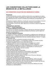 Convention Collective Nationale des Ingénieurs et Cadres de