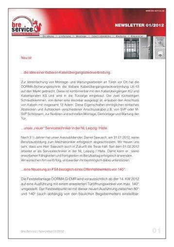 NEWSLETTER 01/2012 - Bre-Service Gmbh