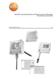 Bedienungsanleitung de testo 6621 Klima ... - Testo AG