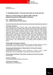 Protokoll SR 20.10.05 - Stadt Biel