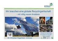 Wir brauchen eine globale Recyclingwirtschaft