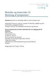 Metoder og materiale til Mestring af symptomer - Region Sjælland