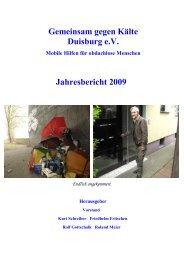 Gemeinsam gegen Kälte Duisburg e.V. Jahresbericht 2009