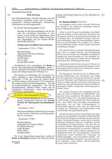 Deutscher Bundestag, Stenografischer Bericht, 136. Sitzung
