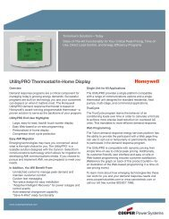 UtilityPRO Thermostat/In-Home Display - Cooper Industries