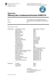 Aktennotiz Sitzung des Landesausschusses GAW-CH - WMO