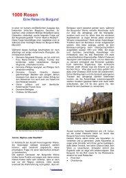 1000 Rosen - Eine Reise ins Burgund Philippe ... - vinifera-mundi.ch