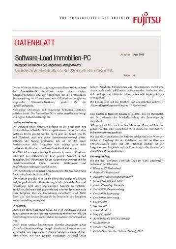 Software-Load Immobilien-PC - Fujitsu