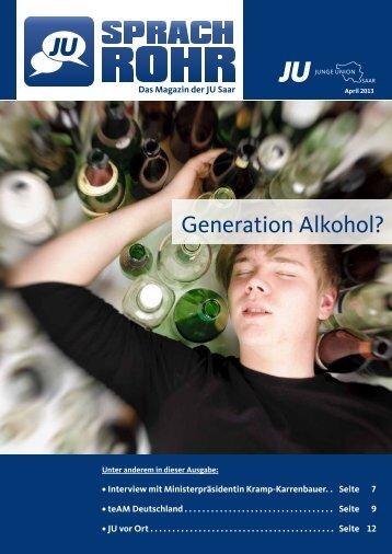 Generation Alkohol? - JU-Saar