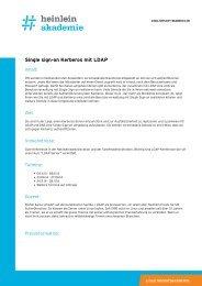 """""""Single sign-on Kerberos mit LDAP"""" als PDF-Download - Heinlein"""