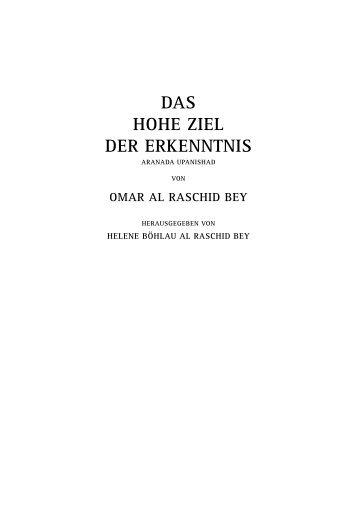 DAS HOHE ZIEL DER ERKENNTNIS - ARANADA UPANISHAD