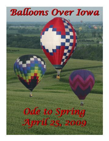 March/April 2009 - Balloons Over Iowa