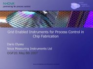 Grid Enabled Instruments for Process Control in Chip Fabrication