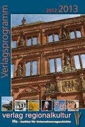 Verlagsprogramm - Verlag Regionalkultur