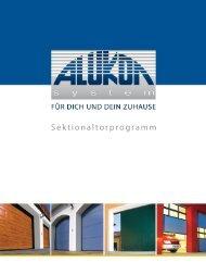 Sektionaltorprogramm - Markus Hammer Sonnenschutztechnik