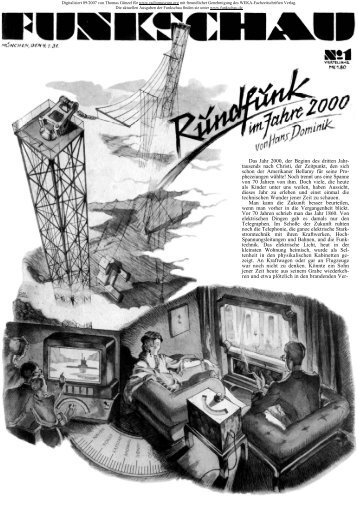 Funkschau 4.Jg Heft 1 1.Januar 1931 - Radiomuseum.org