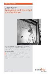 Checkliste Reinigung und Unterhalt von Gebäuden