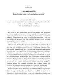 Deutsch-tschechische Nachbarschaft und Identität