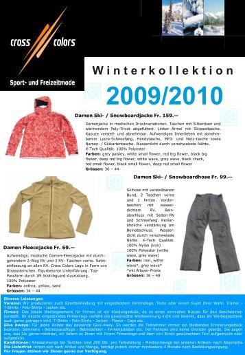 W interkollektion 2009/2010 - Cross Colors GmbH