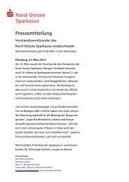 Vorstandsvorsitzender der Nord-Ostsee Sparkasse verabschiedet ...