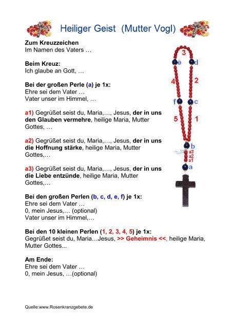heiliger geist rosenkranz mutter vogl pdf rosenkranzgebete  der rosenkranz pdf #6