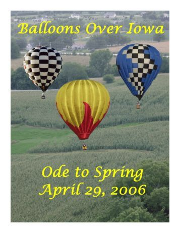 Ode to Spring - Balloons Over Iowa