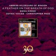 Téléchargez le livret intégral en format PDF ... - Abeille Musique