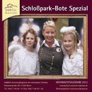 Schloßpark-Bote Spezial - DOMICIL Seniorenresidenzen